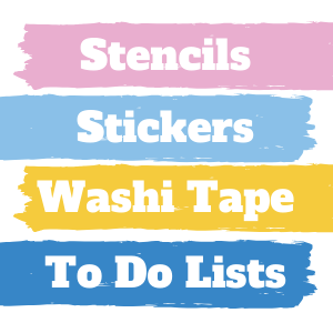 Journal Case, Bullet Journal Stencils, Planner Stickers Washi tape, To do list sticky notes