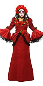 Day of the Dead costume, women's costumes