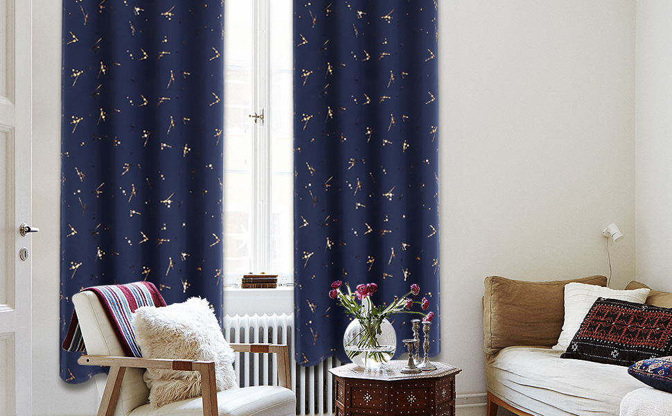 Room Darkening Curtains for Bedroom, Thermal Insulated Blackout Curtains for Living Room