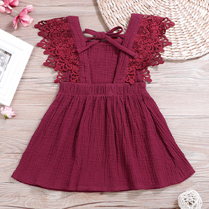 Toddler Baby Girls Clothes Ruffle Sleeveless Summer Breathable Princess One-Piece Skirt Dress Set