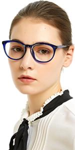 Round reading glasses women transparent readers