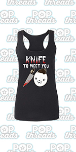 Pop Threads Horror Movie Scary Funny Halloween Jason Retro 80s Fashion Tank Top Tee for Women