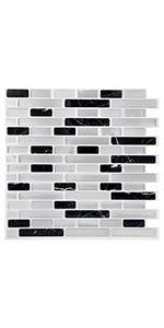 12x12in Peel and Stick Backsplash for Kitchen Marble Self Adhesive Wall Sticker