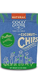Natural Toasted Coconut Chips Scallions