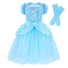 Dresses for Girls Costume Dress Princess Birthday Party Cosplay Outfits Tutu A+HG022 details-2