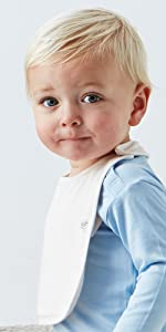 organic bamboo sustainable baby infant bib for boy girl unisex machine washable