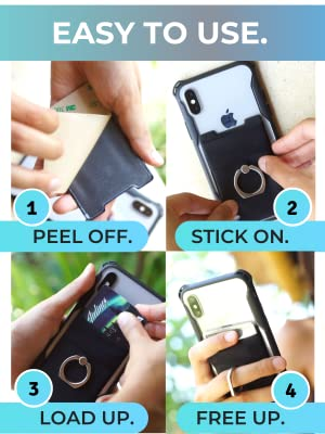 stick on ring wallet magnetic mount how to install