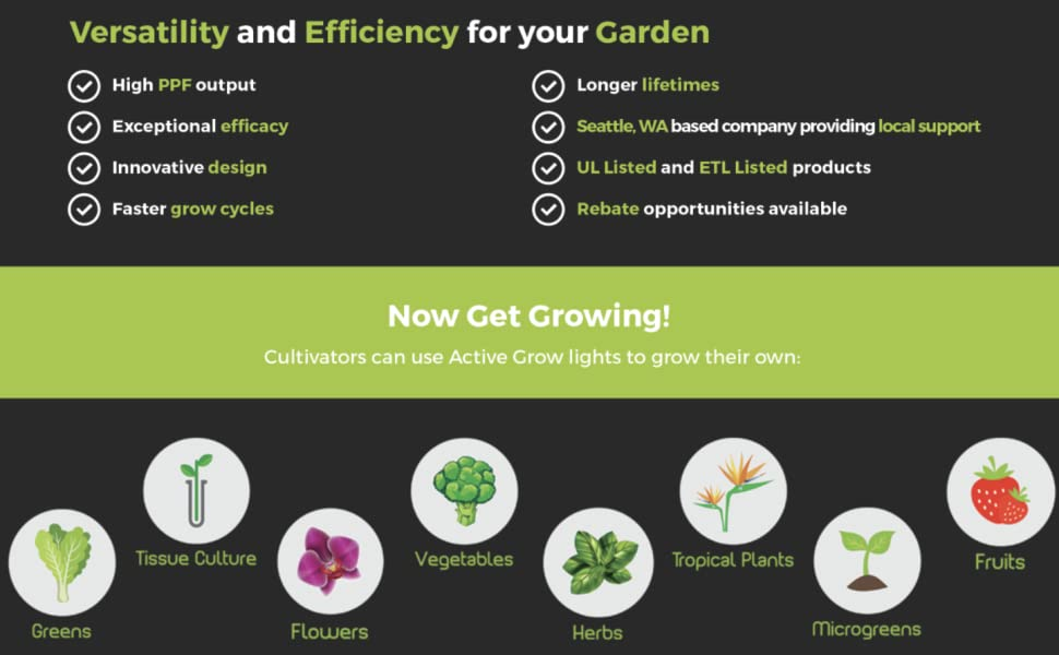 LED Grow Lights Full Spectrum Lamp IR Plant Indoor Micro Greens Clones Succulents Seedlings T5 T8