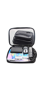 Damero 4pcs Clear Toiletry Bag Packing Cubes