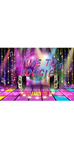 70s 80s Theme Party Disco Photography Backdrop Banner 70's 90s Wall 5x3ft