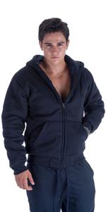 navy mens sherpa lined hoodie