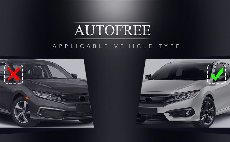 Fog Lights for 2016-2019 Honda Civic (Not fit Touring & SENS models)