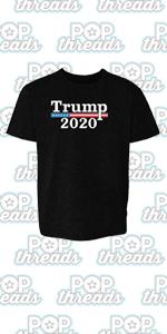 Donald Trump 2020 Pro Trump MAGA Merchandise USA Youth Kids Girl Boy T-Shirt