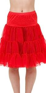 red, crinoline, petticoat