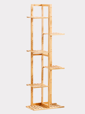 Bamboo 6 Tier 7 Potted Plant Stand Rack