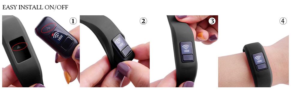 HMJ Band Compatible with Garmin Vivofit JR Bands vivofit jr 2 vivofit 3 smart watch band 4