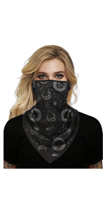 Face Scarf, Men and Women Lightweight Face Balaclava Neck Gaiters with Ear Loops for Dust