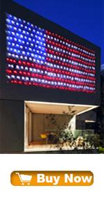 American Flag String Lights