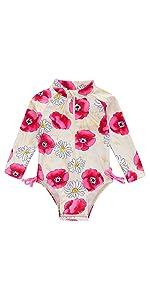 baby girl long sleeve beach suit
