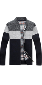 Zipper Knitted Cardigan Sweater