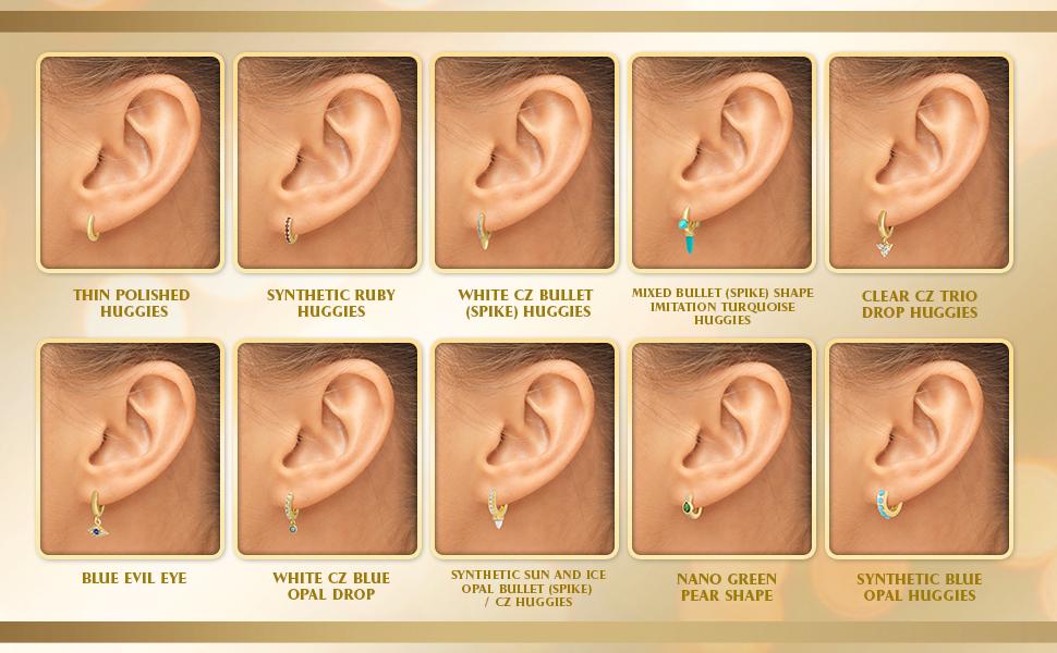 evil eye huggie earrings gold plated helix earring gold plated huggie earrings gold huggie earrings
