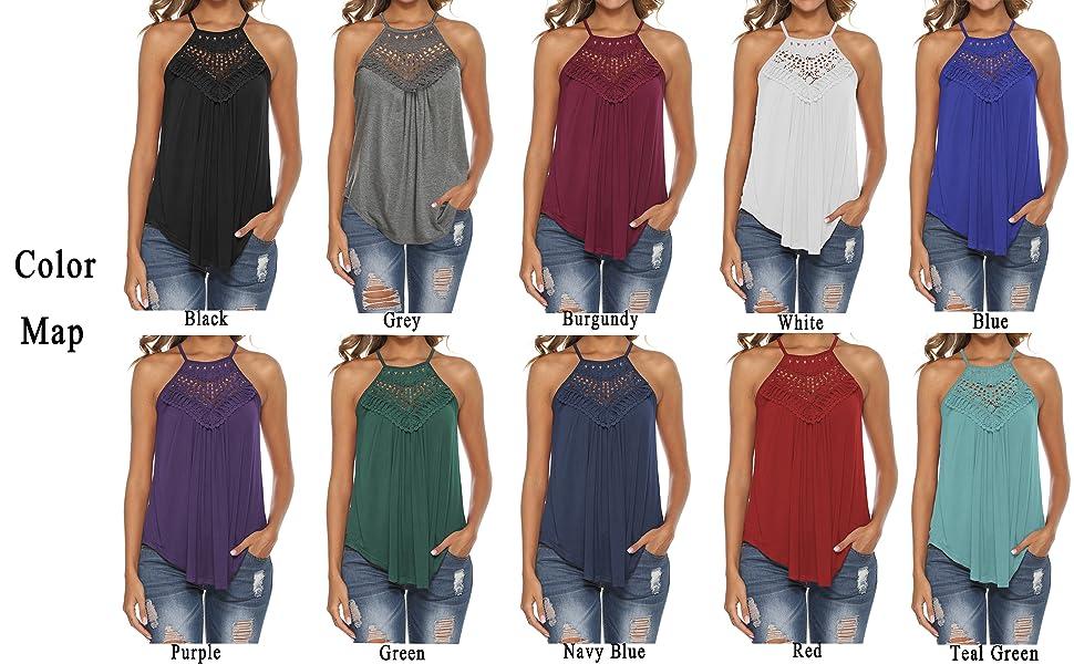 lace tank tops for women flowy tank tops for women dressy cute tops for women summer halter tops