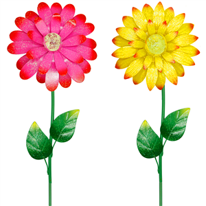 metal flower garden decor stakes