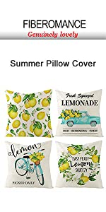 Lemon Pillow Covers