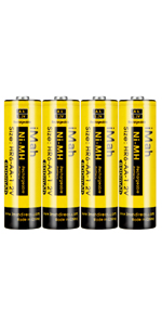 4-Pack iMah HR6 1.2V 800mAh AA Rechargeable Batteries