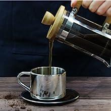 french coffee press single serve GLASS