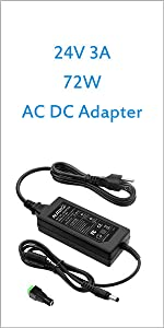ALITOVE 24V 6A Power Supply Adapter Converter 100-240V AC to DC 24 Volt 144W 6Amp 5.5A 5A 4A Transformer with 5.5x2.5mm Plug for LED Strip Light Water Purifier CCTV Camera LCD Monitor Massage Chair