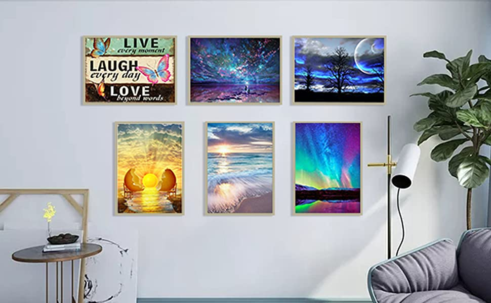 Paint with diamonds for adults and kids home room wall decor