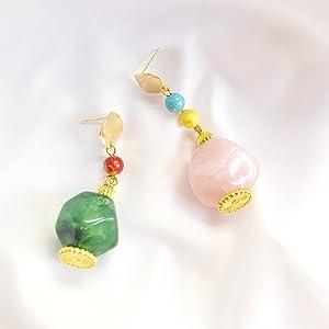 Plastic Geometric Loose Beads