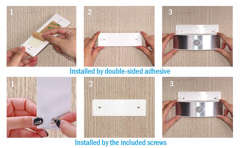 Motion sensor under counter light vanity mirror light batteries operated 6000K daylight white inside