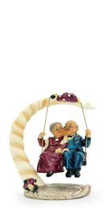 Loving Elderly Couple Figurines