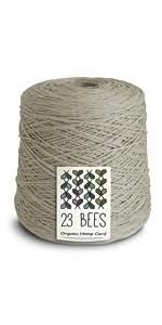 23 Bees 100% Organic Bulk Hemp String, Twine, Cord, Jewelry Making, Beading, Macrame, Crafts