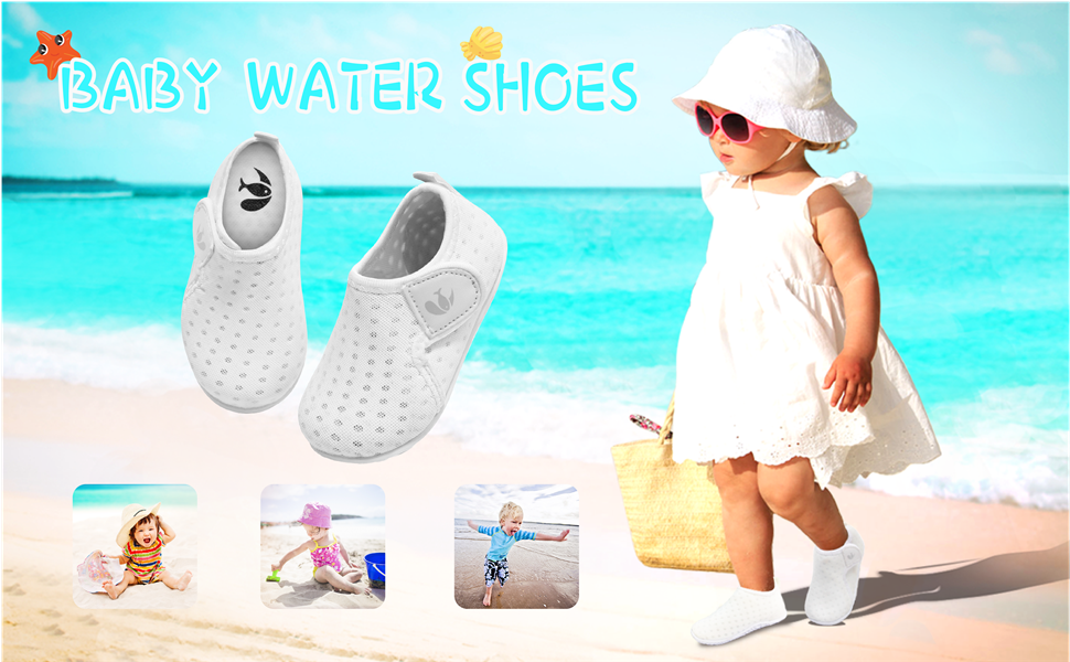 FEETCITY Baby Boys Girls Water Sport Shoes Barefoot Kids Aqua Socks Quick-Dry Beach Swim Pool Shoes