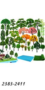 Model Trees & Supplies Set