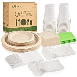 disposable dinnerware set