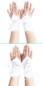 First Communion Gloves Satin Gloves