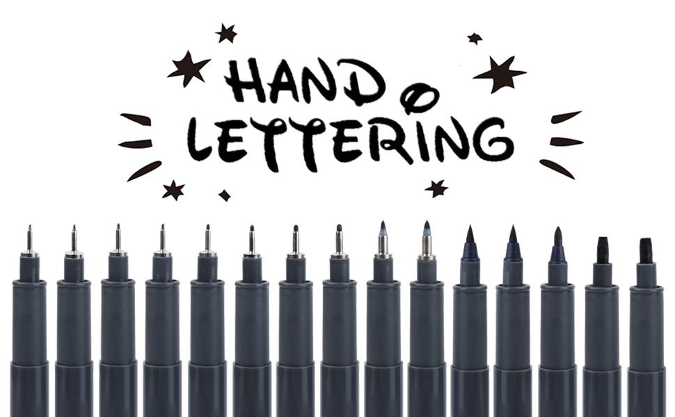Tebik 15 Pack Hand Lettering Pens