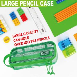 clear large pencil case good organizer mechanical pens pencils erasers rulers marker art supplies