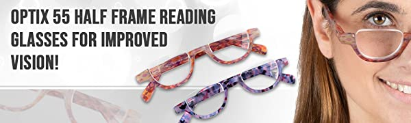 Half frame reading glasses will provide you enhanced vision