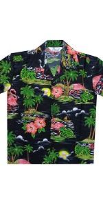 Pink Flamingo Hawaiian Shirts for Boys
