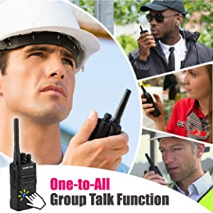 two way radio walkie talkie group talk broadcast one-to-multi