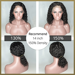 Water Wave Lace Front Wigs Human Hair Pre Plucked with Baby Hair Human Hair 14 Inch