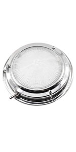 Marine City Stainless-Steel Marine 12V,3W LED Dome Light 4 Inches boat yacht ship parts accessories