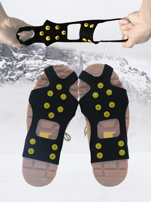 Crampons Traction Ice Cleats Grippers Shoe Ice Snow Grips Slip-on Stretch Footwear