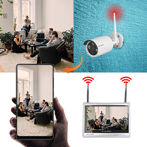 wireless cameras system supports remote review