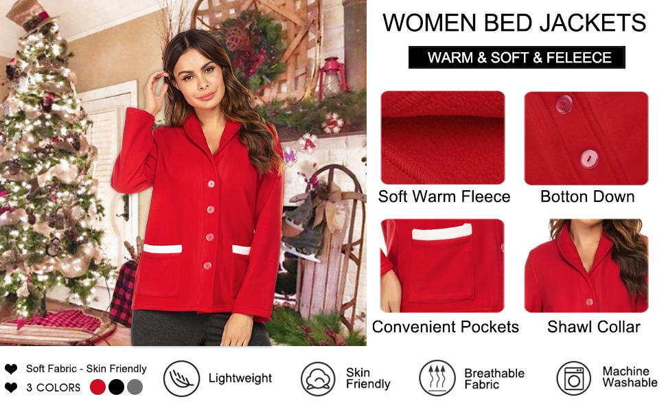 Women's bed jackets bed coatt bed robe